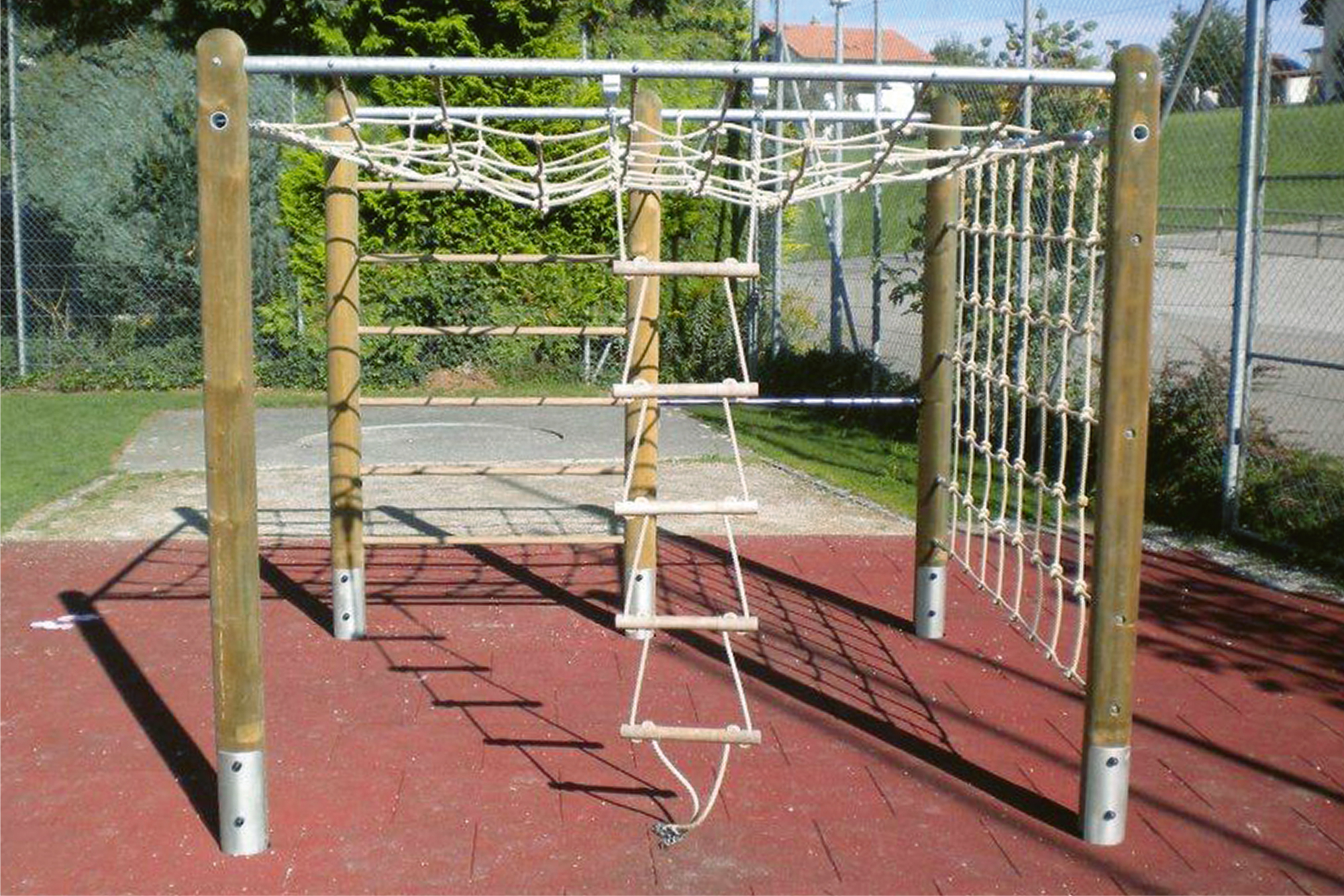 Klettergerüst Outdoor Metall : Klettergerät klettergerüst arizona fuchs thun