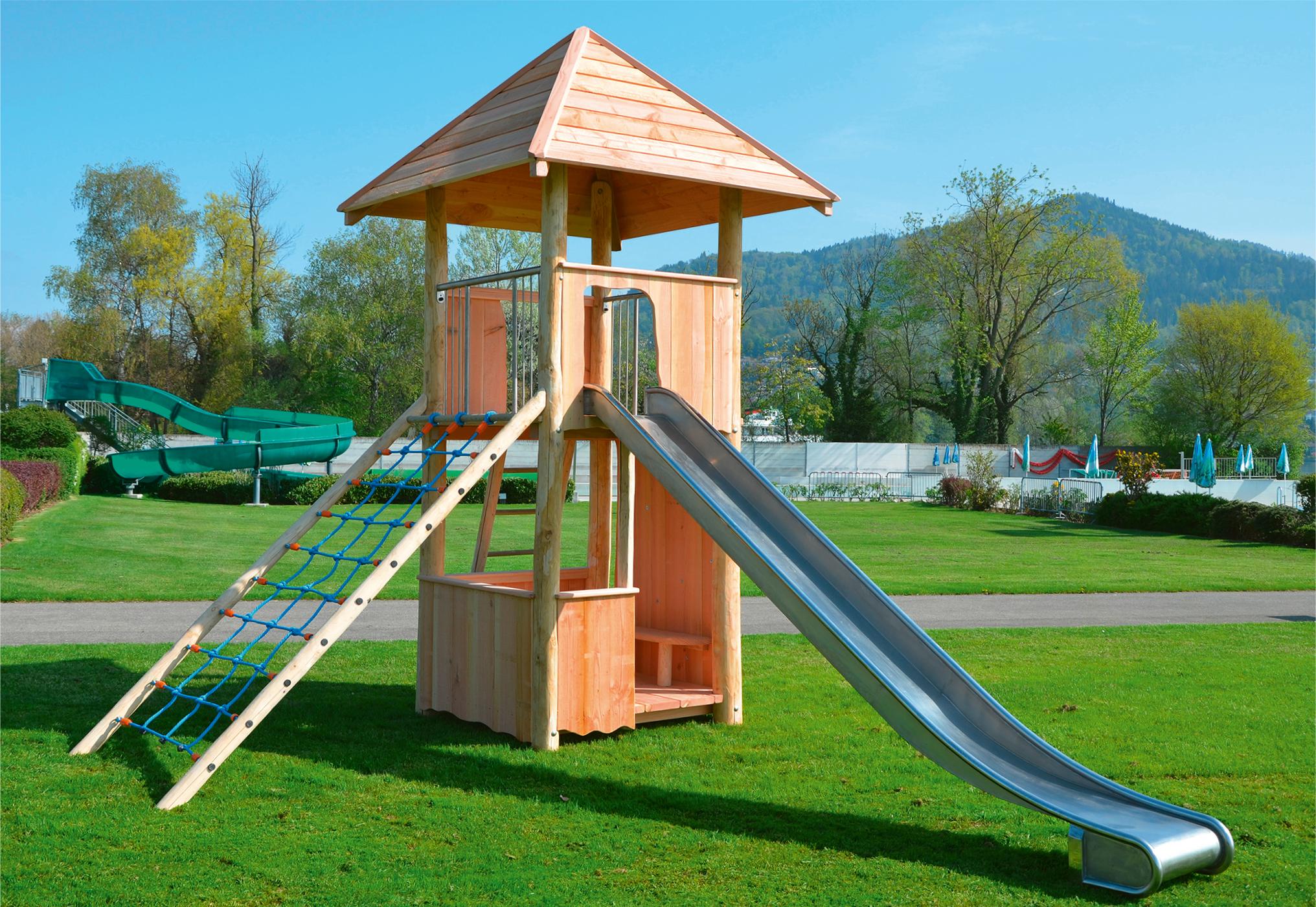 Kletterbogen Kunststoff : Spielturm aus edelkastanie fuchs thun